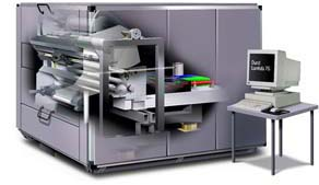 Metallic digital photos are produced on the Durst Lambda 130