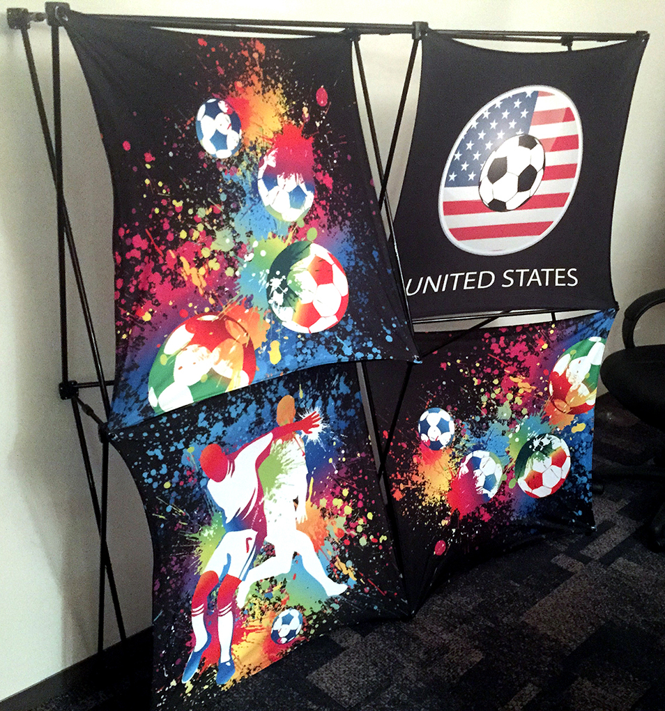 3 D Fabric Displays With Dye Sublimation Graphics Create