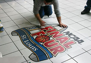 Gamma's Floor Graphics can reinforce your brand message. Convert your floor into a unique marketing opportunity.
