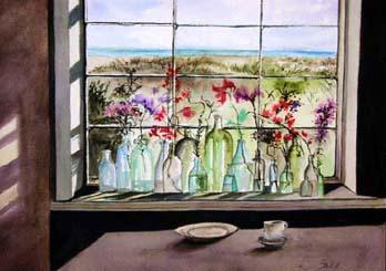 Sparkling Bottles on the Sill, Liz Kalish