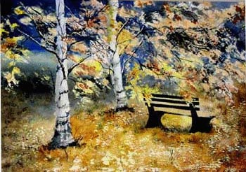 Golden Autumn in the Park, Liz Kalish