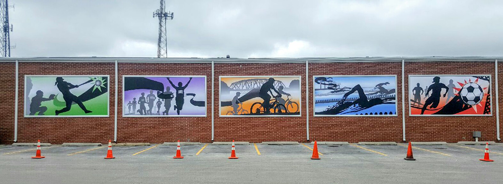 Vinyl banners for palos heights public work building