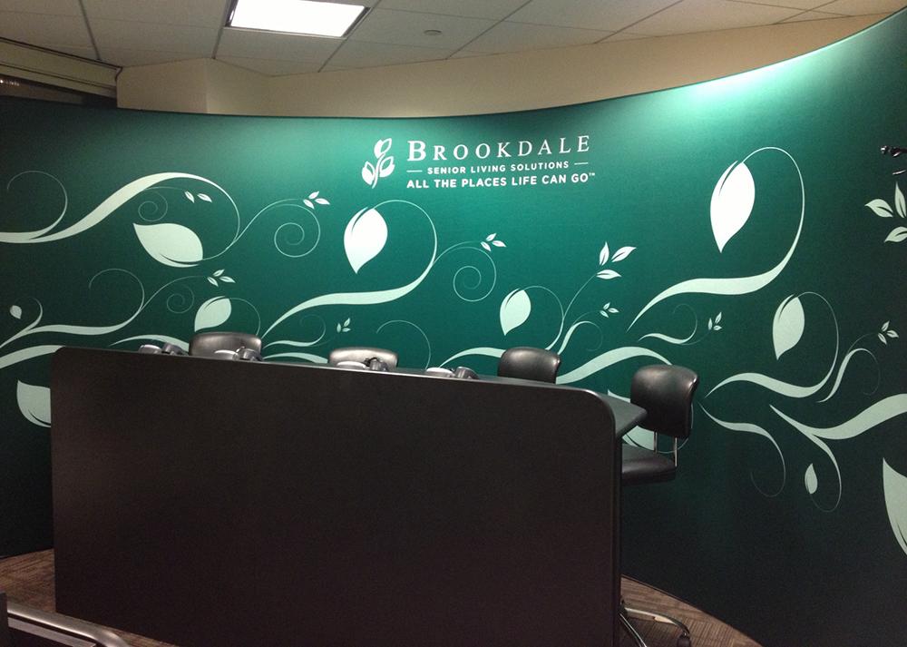 Large fabric banner for Bookdale Senior Living