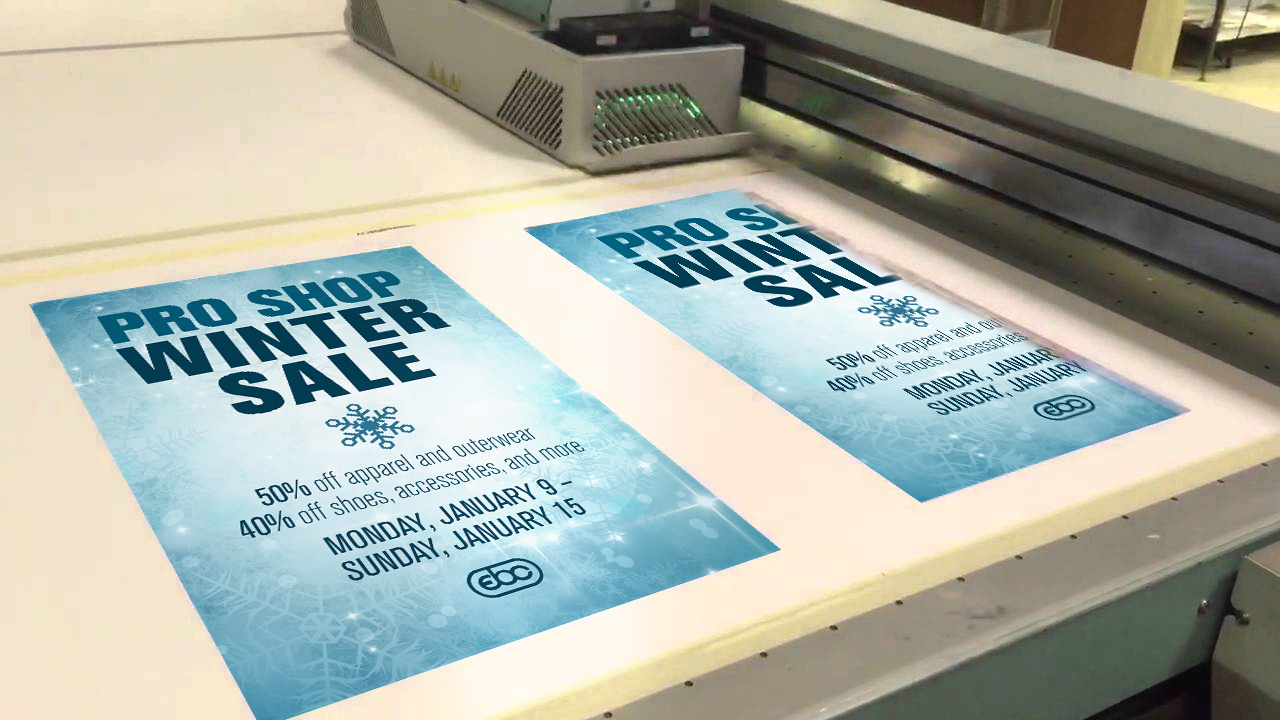 Unlike other flatbeds, Gamma's sign printing produces near photographic quality with smoother skin tones and finer line definition.