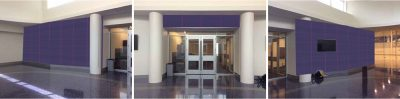 Custom wallpaper mural for Texas Christian University Sports Pavilion
