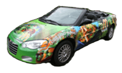 Gamma creates, manufactures and installs fleet and vehicle graphics.