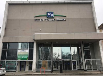 Gamma will be installing vinyl adhesive on the windows at the 1209 N Milwaukee branch of 5/3 Bank in Chicago. With plans to install pole banner on Division Street and vinyl banners or fabric banners inside, Gamma's Vutek printer will be smokin'!