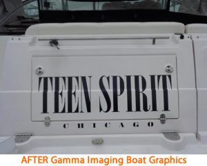 Boat graphics are a busy part of Gamma Imaging's schedule during the spring months.