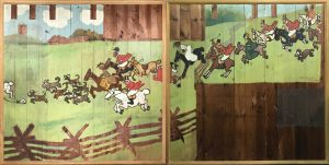 Gamma digital scans wooden murals from 1904 that were recently discovered in storage at a Northshore Private Club in Illinois.