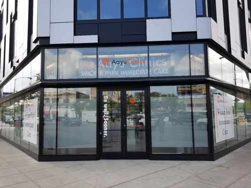 Gamma Imaging provided window graphics for AAYU Clinics new office.