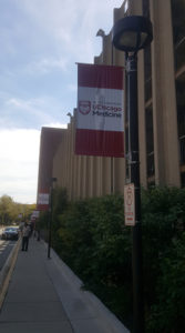 Gamma installed pole banners last week at the University of Chicago Medical Center.