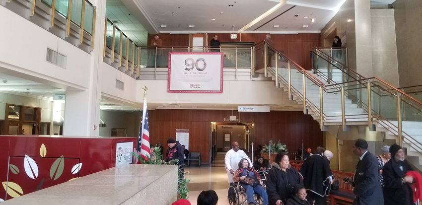 Gamma has installed a custom indoor banner for Comer Hospital, part of the University of Chicago Hospitals.