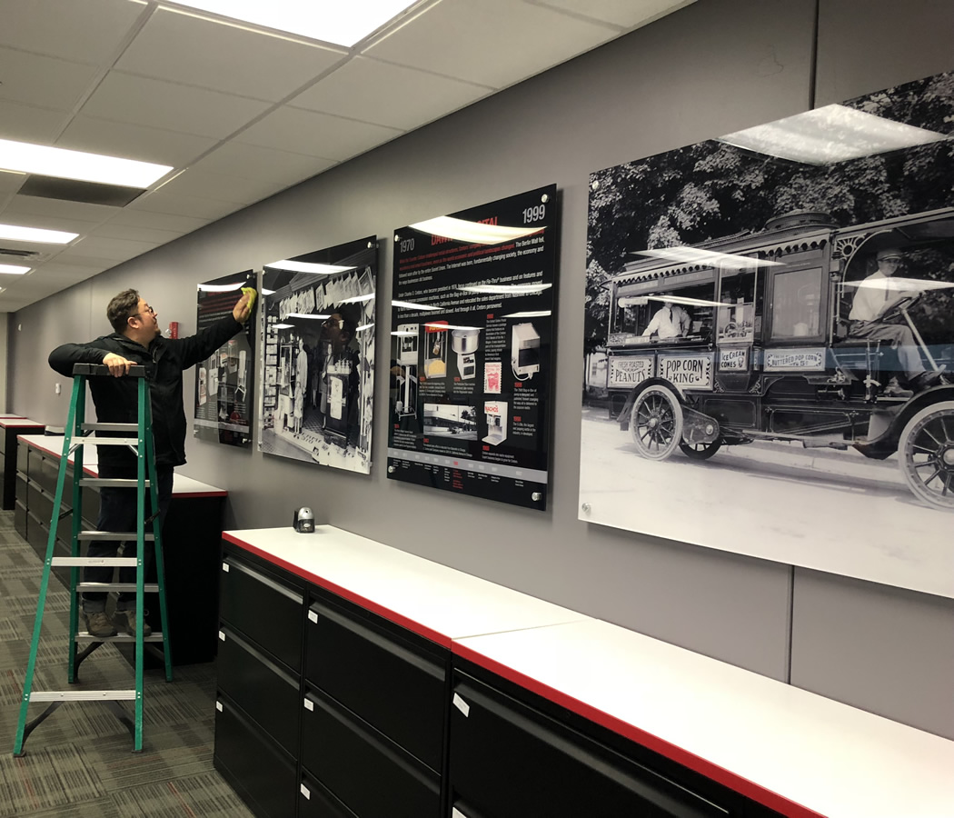 Lambda photographic murals and digital prints were on for Digital mural printing
