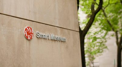 Gamma printed and installed a vinyl banner at the front entrance to Chicago's Smart Museum.