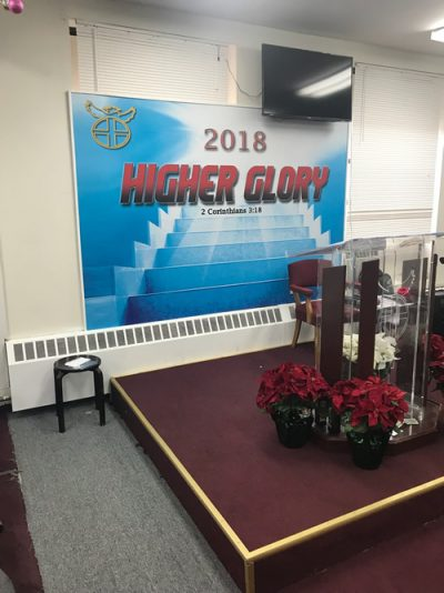 Gamma printed custom wallpaper on our HP 360 for the Word Life Kingdom Ministries.