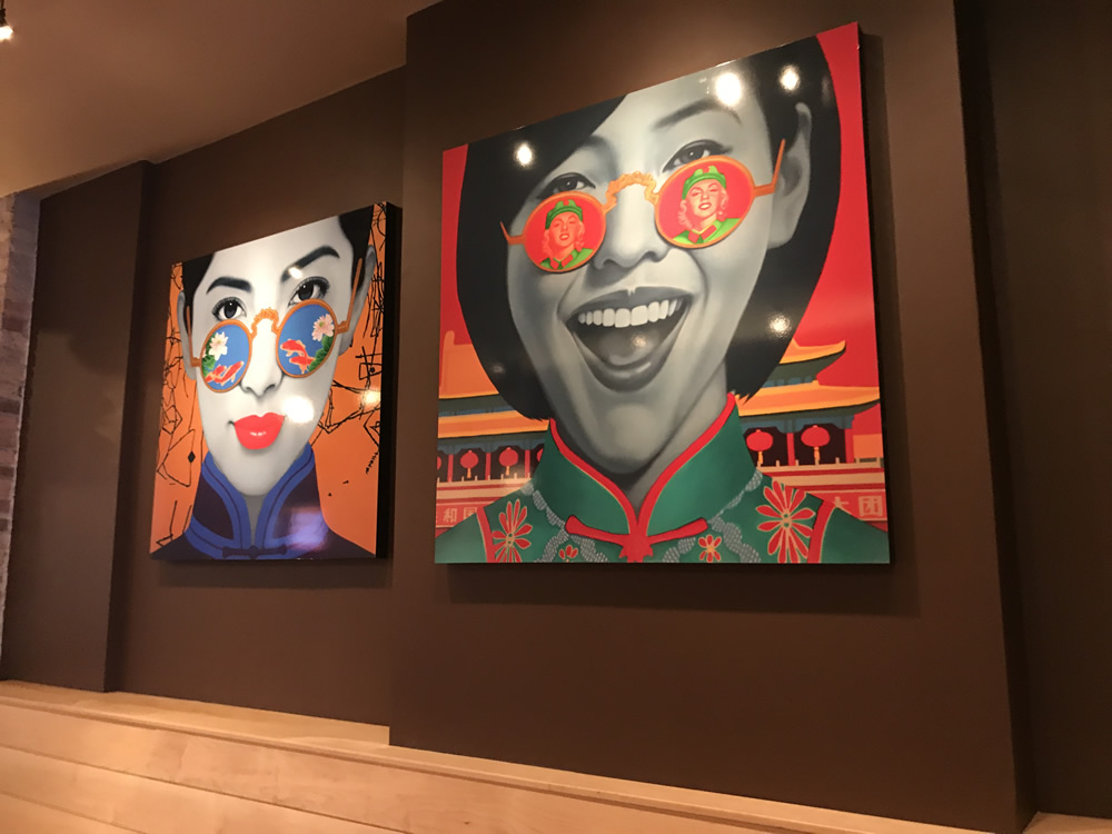 Gamma produced two large, fine art Giclee prints last week, mounted them to museum box frames and provided installation services at Wao Bao,