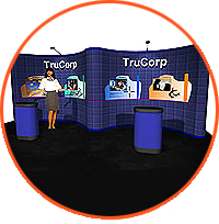 Perfect for displaying trade show graphics, merchandise and products, Gullwing Pop Up Displays can be used in a variety of configurations.